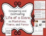 Compare and Contrast Life as a Slave: Plantation, Farm, Town