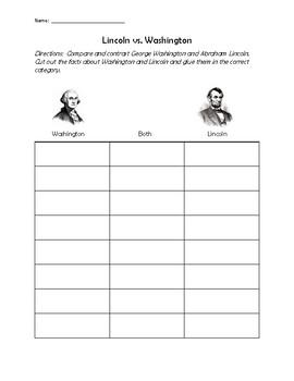 Compare and Contrast Lincoln vs.Washington