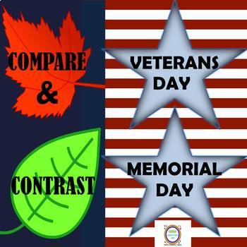 Distance Learning Compare & Contrast Memorial Day & Veterans Day Fantastic Facts