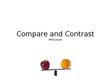 Compare and Contrast Mini Lesson