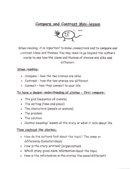Compare and Contrast Mini-Lessons