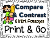 Compare and Contrast Mini Passages PRINT AND GO