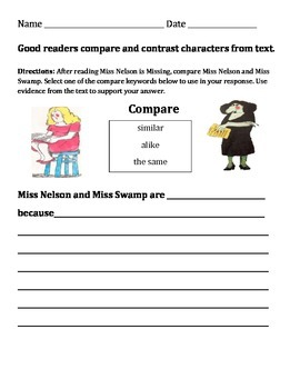 Compare and Contrast Miss Nelson is Missing