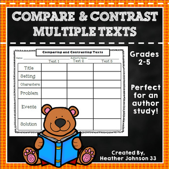 Compare and Contrast Multiple Texts