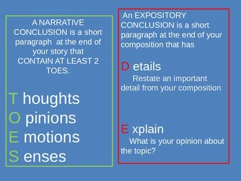 Compare and Contrast Narrative and Expository