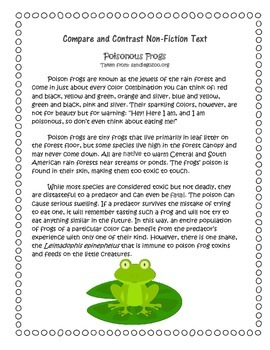 Compare and Contrast Non-Fiction Text (FROGS)