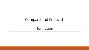 Compare and Contrast Nonfiction