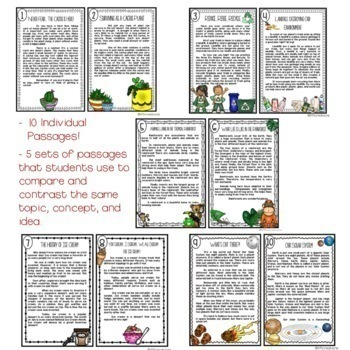 Compare and Contrast on the Same Topic RI.9 Nonfiction Articles