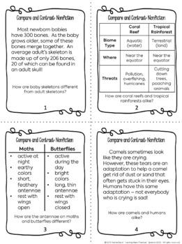 Compare and Contrast Unit - Nonfiction Bundle - Includes Informational Texts