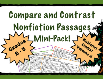 Compare and Contrast Passages with the National Parks Volume 2