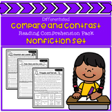 Differentiated Compare and Contrast Nonfiction Reading Comprehension Pack
