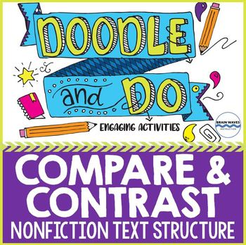 Compare and Contrast - Nonfiction Text Structure - Sketch Notes and Activities