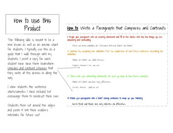Compare and Contrast Paragraph