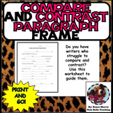 Compare and Contrast Paragraph Frame