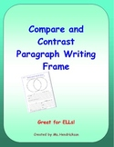 Compare and Contrast Paragraph Writing Frame for ELLs