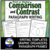 Compare and Contrast Paragraph Writing Graphic Organizers, Frames, and Handouts
