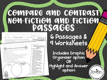 Compare and Contrast Passages: Fiction and Non-Fiction