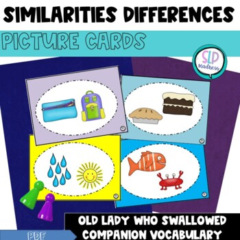 Compare and Contrast Picture Cards-Explaining Similarities and Differences
