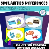 Compare and Contrast Picture Cards-Explaining Similarities