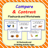 Compare and Contrast Picture Task Cards, Activities to Des