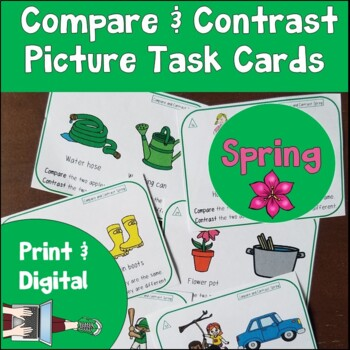 Spring Compare and Contrast Picture Task Cards