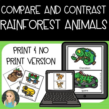 Compare and Contrast Game: Rainforest Animals
