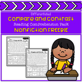 Compare and Contrast Reading Comprehension Pack Freebie