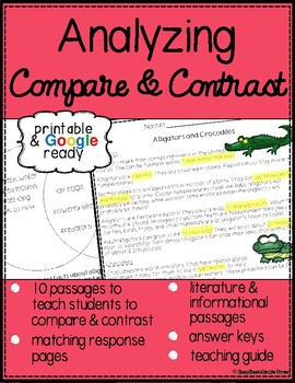 Compare and Contrast Reading Passages with Questions