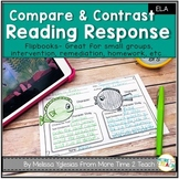 Reading Response | Compare and Contrast Flip Book | Summary | Text Connections