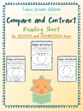 Compare and Contrast Reading Sheets for Daily 5 and Raz Kids