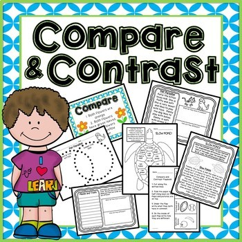 Compare and Contrast - Readings, Flip book, Story Writing and more!