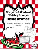 Compare and Contrast Restaurants Writing Prompt
