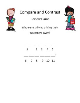 Compare and Contrast Review Game: Mystery Joke