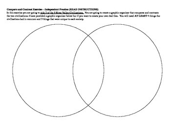 Compare and Contrast River Valleys Graphic Organizer and Writing Prompt