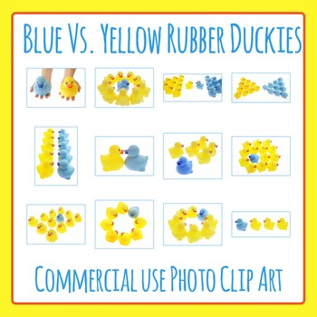 Compare and Contrast Rubber Ducky Photo Clip Art Set for Commercial Use