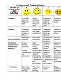 Compare and Contrast Rubric Grade 1