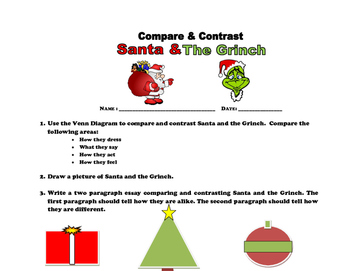Compare and Contrast Santa and the Grinch