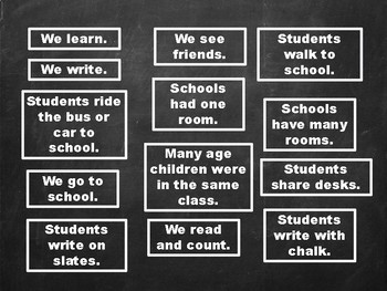 Compare and Contrast: Schools Now and Then