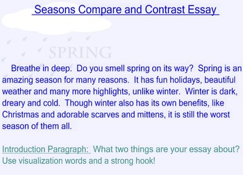 Compare and Contrast Seasons Essay