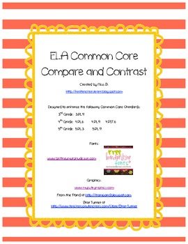 Compare and Contrast Set - ELA Common Core