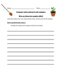 Compare and Contrast Soil Samples, Science Inquiry