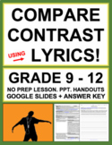 Compare and Contrast Song Lyrics (Music as Poetry)