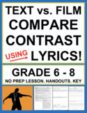 Compare and Contrast Song Lyrics and Music Videos - No Pre