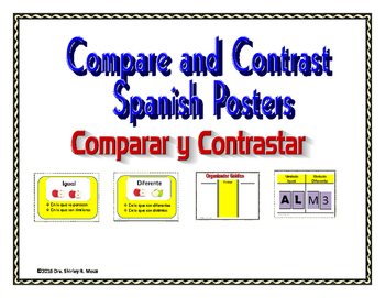 Compare and Contrast Spanish Posters: Comparar y Contrastar