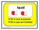 Compare and Contrast Spanish Posters: Comparar y Contrastar