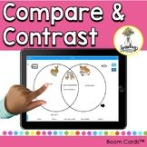 Compare and Contrast Speech Therapy Boom Cards and Languag