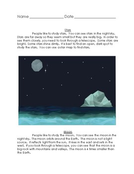 Compare and Contrast Stars/Moon 2 Texts