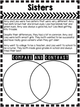 Compare and Contrast Story Sheets