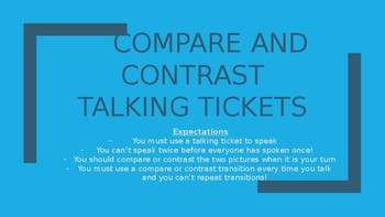 Compare and Contrast Talking Ticket Activity