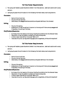 Compare and Contrast Tall Tales Power Point Activity companion